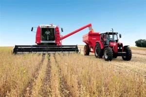 cosechadora y tractor