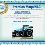 Premio MaquiNAC - Diploma New Holland