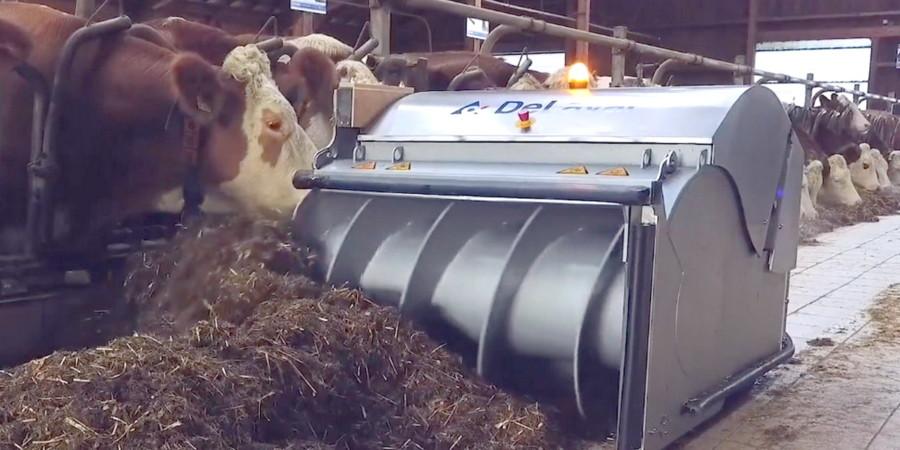 delaval dise el robot optiduo para alimentar a las vacas solo campo. Black Bedroom Furniture Sets. Home Design Ideas